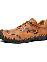 cheap -Men's Loafers & Slip-Ons Business Classic Wedding Office & Career Walking Shoes Microfiber Handmade Non-slipping Khaki Black Brown Fall Spring
