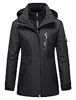cheap -Women's Hiking 3-in-1 Jackets Ski Jacket Hiking Fleece Jacket Winter Outdoor Thermal Warm Windproof Fleece Lining Lightweight Outerwear Windbreaker Trench Coat Skiing Fishing Climbing Female black