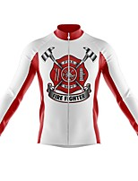 cheap -21Grams Men's Long Sleeve Cycling Jersey Spandex Polyester White Black Funny Bike Top Mountain Bike MTB Road Bike Cycling Quick Dry Moisture Wicking Breathable Sports Clothing Apparel / Athleisure