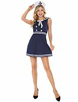 cheap -Uniforms Student / School Uniform Cosplay Costume Adults' Women's Halloween Halloween Halloween Festival / Holiday Terylene Blue Women's Easy Carnival Costumes Solid Color / Dress