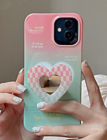 cheap -Phone Case For Apple Back Cover iPhone 12 Pro Max 11 X XR XS Max iphone 7Plus / 8Plus Shockproof Dustproof with Stand Word / Phrase Graphic Heart TPU