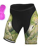 cheap -21Grams Women's Cycling Shorts Summer Spandex Bike Padded Shorts / Chamois Quick Dry Moisture Wicking Sports Green Mountain Bike MTB Road Bike Cycling Clothing Apparel Bike Wear / Stretchy