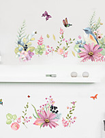 cheap -Floral&Plants Wall Stickers Bedroom / Living Room Removable PVC Home Decoration Wall Decal 1pc 60*90CM