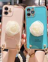 cheap -Phone Case For Apple Back Cover iPhone 12 Pro Max 11 SE 2020 X XR XS Max 8 7 iPhone 12 Mini Shockproof Dustproof Graphic Flower TPU