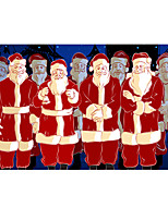 cheap -Christmas Wall Art Poster Prints Painting Artwork Picture HD Self Adhere Gift Classic Figure Portrait Santa Claus Waterproof Home Decoration Decor Rolled Poster No Frame Unframed Unstretched