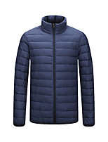 cheap -Men's Sports Puffer Jacket Padded Hiking jacket Hiking Windbreaker Winter Outdoor Solid Color Thermal Warm Thermal Windproof Quick Dry Outerwear Trench Coat Top Full Length Visible Zipper Skiing Ski