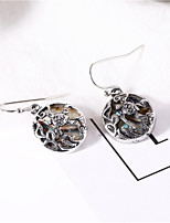 cheap -Women's Earrings Geometrical Floral Theme Earrings Jewelry Silver For Daily Holiday Promise 1 Pair