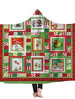 cheap -Hooded Blanket Hooded Blanket Home Blanket Children Blanket Thick Blanket Funny Christmas