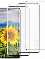 cheap -[3 pack] galaxy s21 ultra screen protector, 9h tempered glass no bubbles 3d curved support fingerprint unlock hd glass screen protector for samsung galaxy s21 ultra / s21 ultra 5g (6.8 inch)