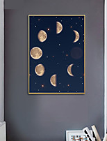 cheap -Wall Art Canvas Prints Painting Artwork Picture Moon Phases Home Decoration Decor Rolled Canvas No Frame Unframed Unstretched
