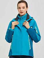cheap -Women's Hiking 3-in-1 Jackets Ski Jacket Hiking Fleece Jacket Winter Outdoor Thermal Warm Waterproof Windproof Fleece Lining Outerwear Windbreaker Trench Coat Skiing Hunting Fishing Red Blue Rose Red