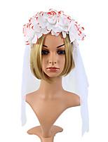 cheap -Women's Party Wedding Halloween Flower Flower White Headwear  Fall Winter Spring Summer Holiday
