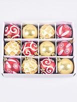 cheap -Painted Christmas Balls 6cm Christmas Tree Decoration Balls 12pcs Pvc Carton