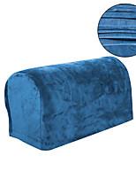 cheap -Velvet Stretch Sofa Couch Armrest Covers Slipcover Recliner Armrest Elastic Grey Brown Blue