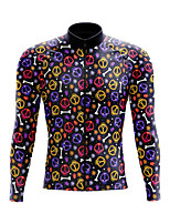 cheap -21Grams Men's Long Sleeve Cycling Jersey Spandex Polyester Black 3D Skull Bone Bike Top Mountain Bike MTB Road Bike Cycling Quick Dry Moisture Wicking Breathable Sports Clothing Apparel / Stretchy