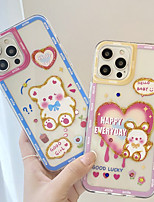 cheap -Phone Case For Apple Back Cover iPhone 12 Pro Max 11 SE 2020 X XR XS Max 8 7 Shockproof Dustproof Cartoon Word / Phrase TPU