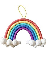 cheap -room decoration rainbow hanging hair ball pendant hand-woven cotton rope bohemian home decoration wall hanging decoration