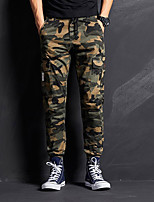 cheap -Men's Work Pants Hiking Cargo Pants Hiking Pants Trousers Winter Outdoor Windproof Ripstop Breathable Multi Pockets Pants / Trousers Bottoms Camouflage Fishing Climbing Running 29 30 31 32 33