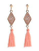 cheap -Women's Earrings Tassel Fringe Fashion Classic Earrings Jewelry Blushing Pink For Street 1 Pair
