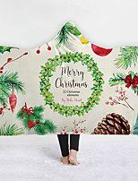 cheap -New Style Cape With Hat Thick Double Layer Plush 3d Digital Printing Children's Cover Christmas Series
