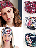 cheap -3 Pcs/set Bohemia Popular Sports Yoga Headband Sweat-absorbent Stretch Cotton Headband Super Wide Ladies' Knotted Hair Accessories