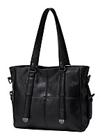 cheap -Women's Bags PU Leather Tote Zipper Vintage Daily Office & Career Tote Handbags Black Red