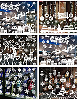 cheap -Christmas Window Paste White Snow Wall Paste Window Dress Up No Trace Stickers 35*50cm
