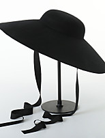 cheap -Women's Party Hat Party Wedding Street Pure Color Pure Color Black Hat Fall Winter