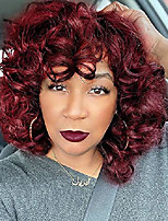 cheap -red wigs for black women 14'' short curly kinky wig with bangs natural fashion synthetic hair wig for party daily z014re