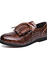 cheap -Men's Loafers & Slip-Ons Business Casual Classic Daily Party & Evening Synthetics Blue Green Brown Fall Winter / Tassel