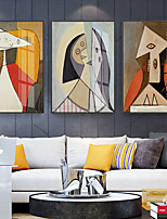 cheap -Wall Art Canvas Prints Painting Artwork Picture Abstract People Retro Home Decoration Dcor Rolled Canvas No Frame Unframed Unstretched