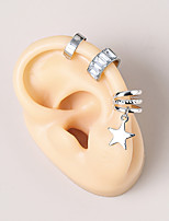 cheap -Women's Clip on Earring Classic Star Statement Fashion Vintage Modern French Earrings Jewelry Silver For Party Gift Daily Prom Club 3pcs