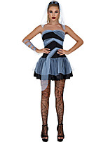 cheap -Witch Cosplay Costume Adults' Women's Halloween Halloween Halloween Festival / Holiday Terylene Black Women's Easy Carnival Costumes Solid Color / Dress / Headwear