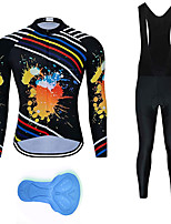 cheap -21Grams Men's Long Sleeve Cycling Jersey with Bib Tights Summer Spandex Polyester Black Stripes Graffiti Funny Bike Clothing Suit 3D Pad Quick Dry Moisture Wicking Breathable Back Pocket Sports