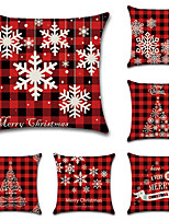 cheap -Christmas Santa Claus Holiday Party Double Side Cushion Cover 6PC Soft Decorative Square Throw Pillow Cover Cushion Case Pillowcase for Bedroom Livingroom Superior Quality Machine Washable Indoor Cushion for Sofa Couch Bed Chair
