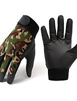 cheap -Men's 1 Pair Outdoor / Streetwear Fingertips Gloves - Color Block Full Finger / Print