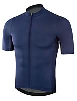 cheap -CAWANFLY Men's Short Sleeve Cycling Jersey Summer Dark Navy Bike Tee Tshirt Jersey Top Road Bike Cycling Quick Dry Sports Clothing Apparel / Micro-elastic