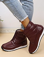 cheap -Women's Boots Flat Heel Round Toe Rubber Solid Colored Wine Black Coffee