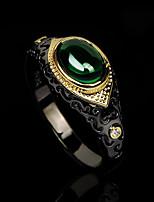cheap -Women Ring AAA Cubic Zirconia Retro Green Brass Totem Series Statement Fashion Vintage 1pc / Women's