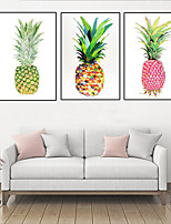 cheap -Wall Art Canvas Prints Pineapple Home Decoration Decor Rolled Canvas No Frame Unframed Unstretched