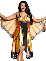 cheap -Cosplay Cosplay Costume Adults' Women's Halloween Halloween Halloween Festival / Holiday Terylene Yellow Women's Easy Carnival Costumes Butterfly / Dress