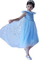 cheap -Princess Dress Girls' Halloween Halloween Halloween Festival / Holiday Polyster Blue / Orange Easy Carnival Costumes Sequin
