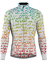 cheap -21Grams Men's Long Sleeve Cycling Jersey Spandex Polyester White 3D Funny Bike Top Mountain Bike MTB Road Bike Cycling Quick Dry Moisture Wicking Breathable Sports Clothing Apparel / Stretchy