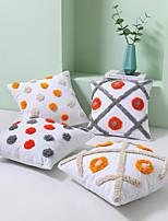 cheap -Pillowcase Bohemia Style Manual Cotton Canvas Tufted Embroidered Pillowcase Cushion Cover Living Room Bedroom Sofa Cushion Cover Modern Sample Room Cushion Cover