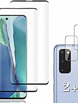 cheap -[2+2 pack] galaxy s20 screen protector include 2 pack tempered glass screen protector + 2 pack tempered glass camera lens protector,9h hardness,3d curved,high definition for galaxy s20 5g