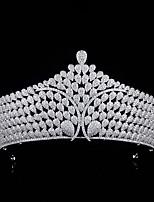 cheap -Big Crown Bride Wedding Zircon Crown Wedding Headdress Micro-inlaid Copper Jewelry Cross-border Wedding Wedding Accessories