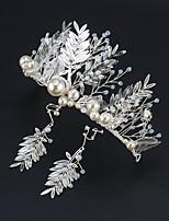 cheap -Wedding Headdress Bride Fairy Princess Baroque Crown Hair Accessories Korean Wedding Atmospheric Crown Jewelry Female Headband