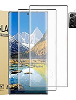 """cheap -[4 pack] 2 pack galaxy note 20 ultra screen protector + 2 pack camera lens protector [9h hardness][fingerprint unlock] [hd clear] 3d curved tempered glass film for samsung galaxy note 20 ultra (6.9"""")"""