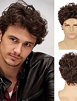 cheap -Mens Wig Brown Short Layered Costume Wig Synthetic Halloween Costume Hair Wigs