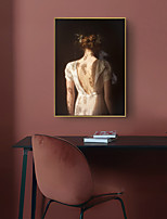 cheap -Wall Art Canvas Prints Painting Artwork Picture Peopl Beauty Back Home Decoration Dcor Rolled Canvas No Frame Unframed Unstretched